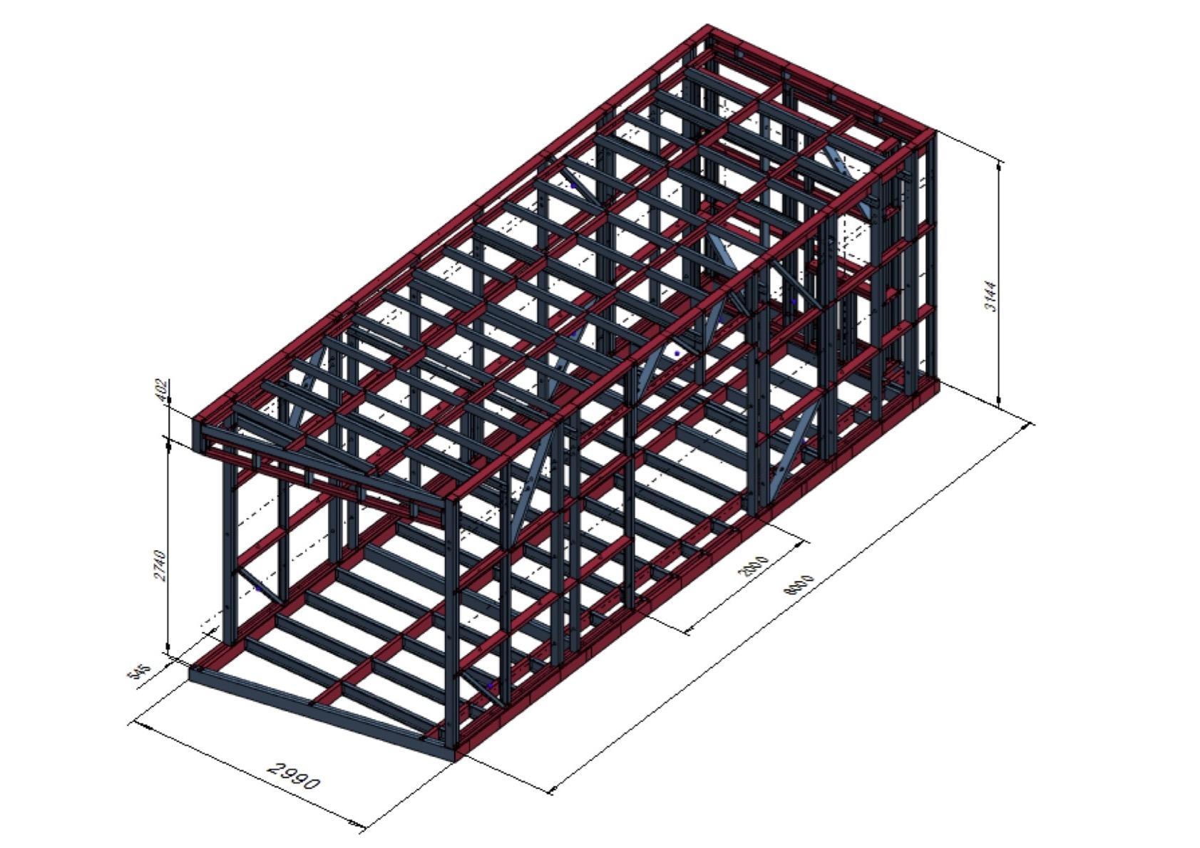 Načrt konstrukcije s profili
