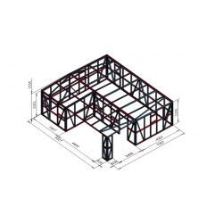 Hiška dvojček s teraso 8x7