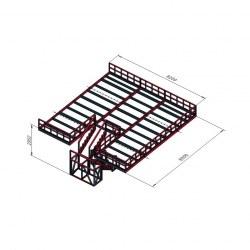 Podest s stopnicami 82x85
